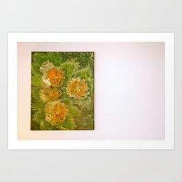 Dahlia flowers Art Print