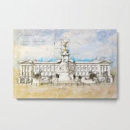 Buckingham Palace, London England Metal Print