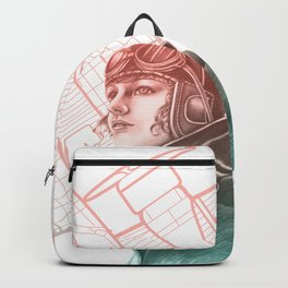 Amelia Earhart Courageous Adventurer Backpack