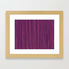 Stripes  - purple and red Framed Art Print