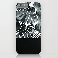 Palm Leaves and Black iPhone 6 Slim Case