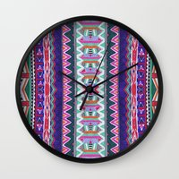 folk Wall Clocks featuring FOLK by Vasare Nar