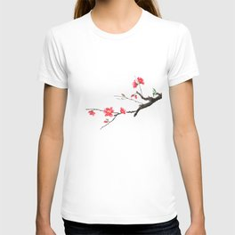 red Japan begonia T-shirt