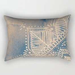 Mandala flower on watercolor background - neutral Rectangular Pillow