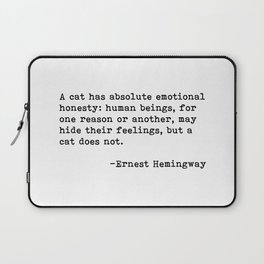 A cat... Ernest Hemingway Laptop Sleeve