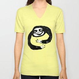 Sloth Hugs Unisex V-Neck