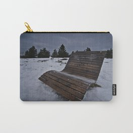 Lonley Bench At Snowy Kahler Asten Carry-All Pouch