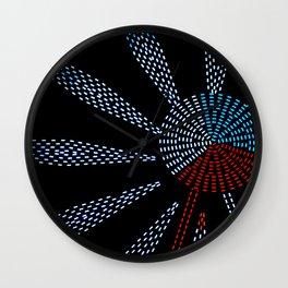 Night ride on this ferris wheel Wall Clock