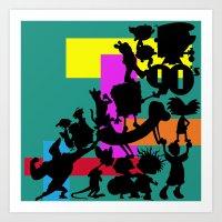 90s Art Prints featuring The 90s by Grace Billingslea