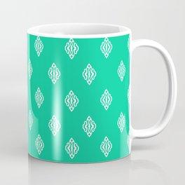 Pattern I Teal Coffee Mug