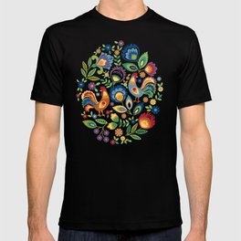 Polish Folk Roosters T-shirt