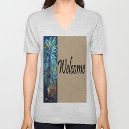 WELCOME with PINEAPPLE Unisex V-Neck