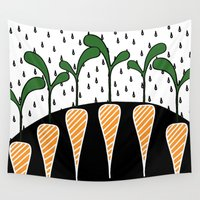 eat Wall Tapestries featuring Eat carrots by Dream Of Forest