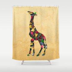 Animal Mosaic - The Giraffe Shower Curtain