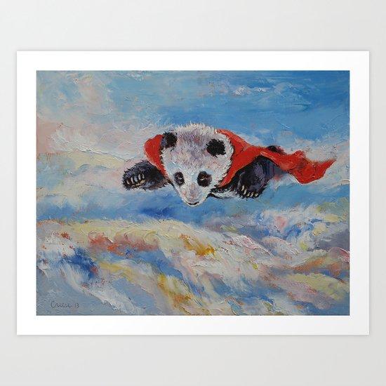 Panda Superhero Art Print