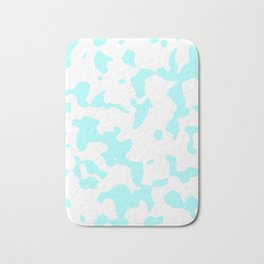 Large Spots - White and Celeste Cyan Bath Mat