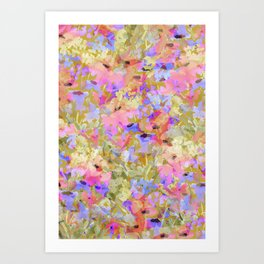 Fancy Field Flowers Art Print