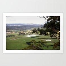 Landscape view from Mt.Bunninyoung - Australia Art Print