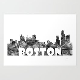 Massachussets Skyline BG2 Art Print
