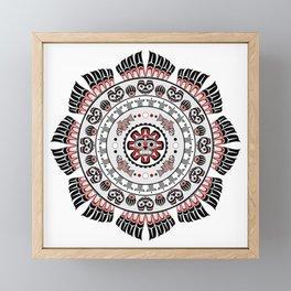 Pacific Northwest Native American Art Mandala Framed Mini Art Print