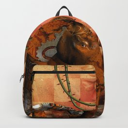 Steampunk, steampunk elephant Backpack