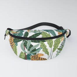 Lion in a tropical jungle Fanny Pack