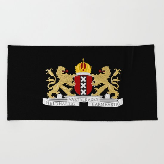 Coat of arms of Amsterdam Beach Towel