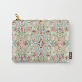 Soft Marsala and Sage Pattern Carry-All Pouch