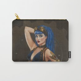 """""""Gear Girl: Blue"""" Steampunk Pin-Up Carry-All Pouch"""