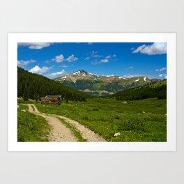 Tenmile Mountain Range from Mayflower Gulch Art Print