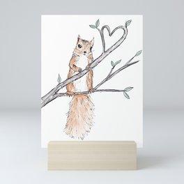 Heart Squirrel Mini Art Print