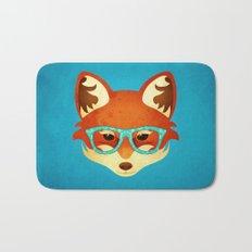Hipster Fox: Azure Bath Mat