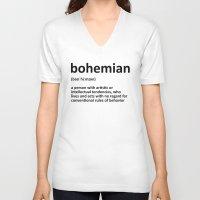 bohemian V-neck T-shirts featuring bohemian by bohemianizm