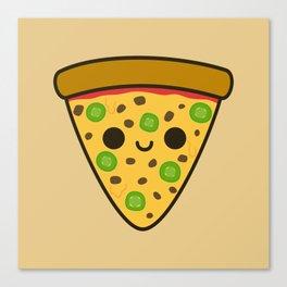 Yummy spicy pizza Canvas Print