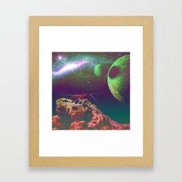 Star Surfer Framed Art Print