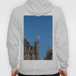 Bruges tower and flag Hoody