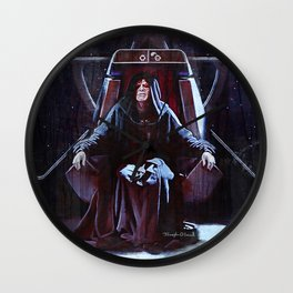 Emperor Palpatine On His Throne Wall Clock