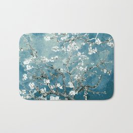 Vincent Van Gogh Almond Blossoms Teal Bath Mat