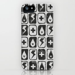 For the love of thunderstorms (light) iPhone Case