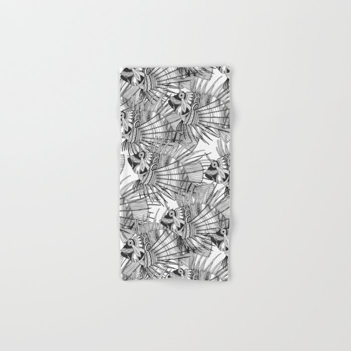 fish mirage black white Hand & Bath Towel