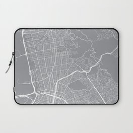Berkeley Map, California USA - Pewter Laptop Sleeve
