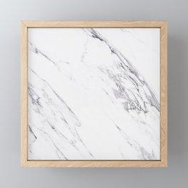 Marble - Classic Real Marble Framed Mini Art Print
