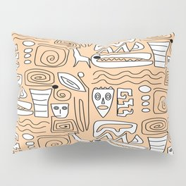 African Tribal  Symbols Pillow Sham