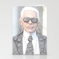 karl lagerfeld Stationery Cards featuring ICONS: Karl Lagerfeld by LeeandPeoples