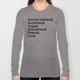 Kindness Helvetica Long Sleeve T-shirt