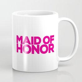 Maid of Honor Wedding Artwork - Hot Pink  Coffee Mug
