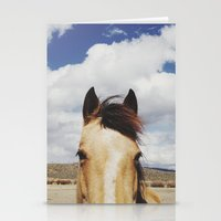 horse Stationery Cards featuring Cloudy Horse Head by Kevin Russ