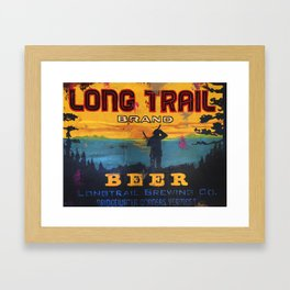 Vermont Brewers Series Long Trail Framed Art Print