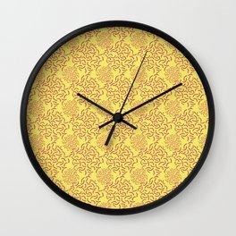 neo Memphis Coordinate Yellow Pink Wall Clock