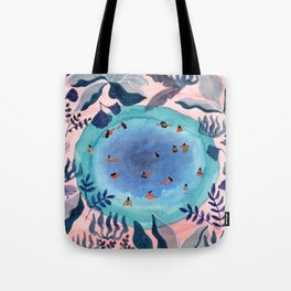 Emerald jungle pool Tote Bag